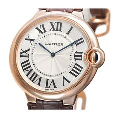 Luxury Men's Ballon Bleu Automatic Rose Gold Extra-Flat Extra Large Cartier Watches For Sale