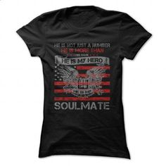 He is my Hero- Soulmate - #mens shirts #vintage shirts. I WANT THIS => https://www.sunfrog.com/LifeStyle/He-is-my-Hero-Soulmate.html?60505