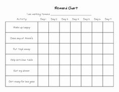 Reward Chart Templates | Printable Shelter with Blank Reward Chart Template Reward Chart Template, Free Printable Behavior Chart, Reward Chart Kids, Kids Rewards, Rewards Chart, Potty Training Reward Chart, Charts For Kids, Kids Learning Activities, Family Activities