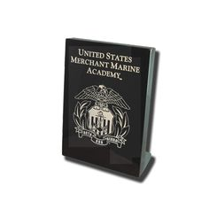 "7""x9"" Merchant Marine Academy Black Desk Plaque"