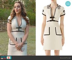 Fallon Carrington wears this crystal-embellished cream and white Gucci dress on Dynasty Dynasty on netflix Gucci Dress, Gucci Outfits, Gucci Gucci, Fashion Tv, Fashion Outfits, Gucci Fashion, Diy Camisa, Classy Outfits, Cute Outfits