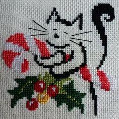 cat cross stitch More: