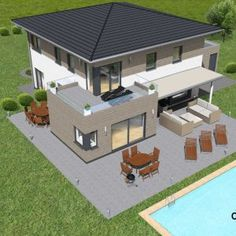 Stadtvilla 224m² | derHausblogger Stommel Haus, Architecture, Future House, Bungalow, Beautiful Homes, House Plans, New Homes, Sweet Home, House Design