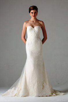 Anne Barge bridal fall 2015 avallon strapless sweetheart wedding dress