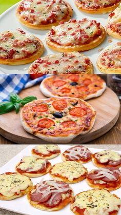 Mini Pizzas, Receita Mini Pizza, Bad Celebrity Plastic Surgery, Minis, Pasta, Ratatouille, Bruschetta, Food Hacks, Tapas