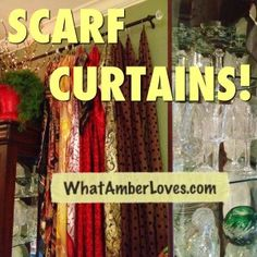 I'm thinking of cutting up my existing brown curtains into strips and adding scarfs into it to get this effect Diy Curtain Rings, Curtains With Rings, Scarf Curtains, Boho Curtains, Gypsy Chic, Gypsy Style, Bohemian Style, Gypsy Decor, Bohemian Decor