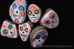 Excellent! Sugar skull stones.