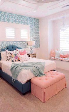 Girls bedroom Themes - 45 Unique Girls Bedroom Ideas for Small Rooms Bedroom Ideas For Small Rooms Women, Small Room Bedroom, Trendy Bedroom, Room Decor Bedroom, Bed Room, Diy Bedroom, Bedroom Boys, Bedroom Lighting, Design Bedroom