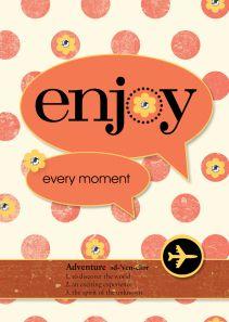 A Digital Bon Voyage card using 'Enjoy Every Moment'. https://astampingjourney.wordpress.com/2014/07/21/another-digital-bon-voyage/