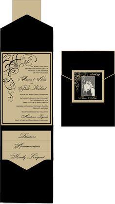 Glamorous 1920\'s 1930\'s 1940\'s Old Hollywood Wedding Invitation Set ...