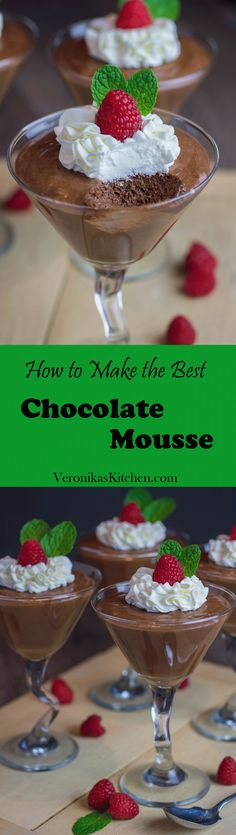 You have a chance to make an incredible Julia Child's chocolate mousse using her recipe! It will be the best dessert you've tried!