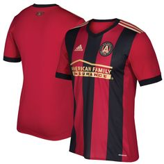 Founding Members receive 15% off at team store Size: Small Men's Atlanta United FC adidas Red/Black 2017 Replica Jersey