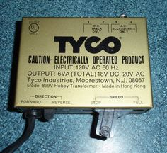 VINTAGE TYCO MODEL 899V HOBBY TOY TRAIN TRANSFORMER HO SCALE RAILROAD RR MODEL #TYCO Train Sets For Sale, Standard Gauge, Hobby Toys, Models, Ho Scale, Classic Toys, Antique Toys, Model Trains, Transformers