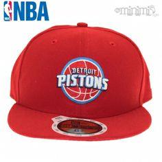 Photo Casquette enfant New Era 59 Fifty NBA - Detroit Pistons Rouge #streetwear #mode #enfant #newera #casquette