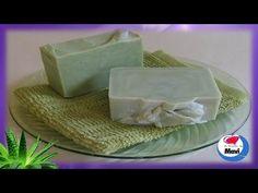 Receta para hacer jabon de glicerina casero de Aloe Vera - Jabones artesanales - YouTube