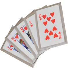 Royal Flush Throwing Card Set (Red)