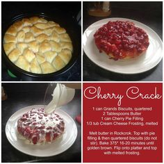 This recipe is so quick and easy in the Pampered Chef Rockcrok. You can choose whatever pie filling is your favorite!