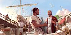 L'apôtre Paul prêchant à un homme