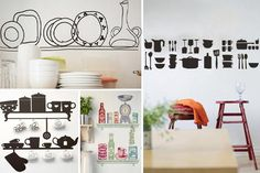 Kitchen Appliance Wall Decals Motif for Kitchen Image 369