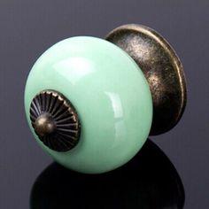 HOT Sale Ceramic Gold Retro Handle Pull Knob Cabinet Door Drawer Locker