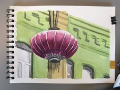 Watercolor on paper. Chinatown San Francisco