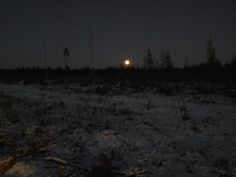 A little bit snow in this autumn and a big moon