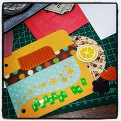 Sacola Craft e mini album de Scrapbook