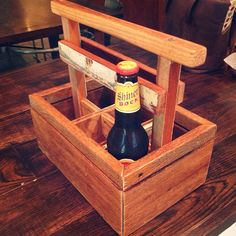 Reclaimed Wood Beer Caddy on Etsy, $65.00
