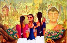 My Buddha In Nature in Painting by Kappari Kishan
