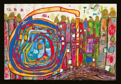 Friedensreich Hundertwasser (1928 - 2000) | 970 Who Has Eaten All My Windows -1996