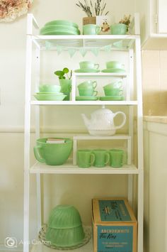 Light and Bright Fire King Jadeite Collection #jadeite #jadite #fire king