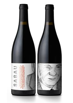 As part of the redesign of wine cellar Sabau's corporate identity, Solo has designed the label of the company's premium wine, Cinquantanys.