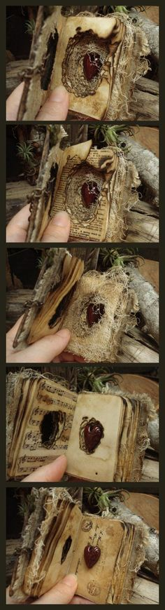 Heart altered book