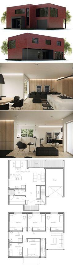 Home Plan Modern Contemporary