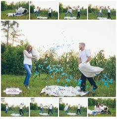 Gender reveal idea | Baby gender photo | best idea for gender reveal shoot | Maternity photo | pregnancy photo shoot | pillow fight