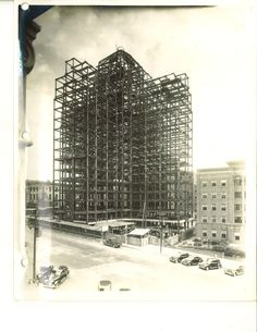 Steel being erected for the Medical College of Virginia West Hospital, 1939 (now VCU Health System)