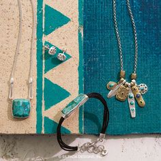 Turquoise blends beautiful with many materials. Shop mysilpada.com/kelley.weis