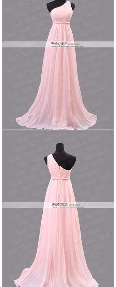 freeshipping sexy um ombro oblíqua rosa noiva e damas de honra do vestido de casamento vestido de noite 2012