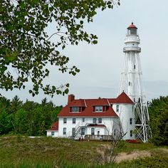Rawley Point Light ~ seen at Point Beach State Forest near Two River, Wisconsin, USA