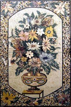 Leaves Micro Marble Mosaic