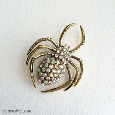 spider brooch spider jewelry spider insect by PrettyBabyBridal