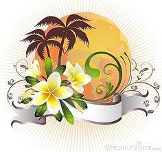 Illustration about Palm flower floral summer leaf hawaii plumeria. Illustration of grunge, dirt, silhouette - 18893834 Frangipani Tattoo, Grunge, Decorative Plates, Tropical, Tatoos, Illustration, Floral, Flowers, Summer