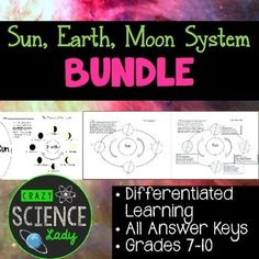 Teaching the Sun, Earth, Moon System to grades 7-10? You need this. Help your students to truly appreciate the intricacies of the way our Sun, Earth, Moon system operates with this helpful pack.
