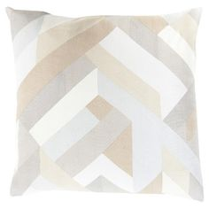 Add a pop of striking style to your sofa or favorite reading nook with this artful pillow, showcasing an eye-catching geometric design.