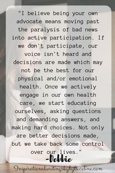 Don't Be Afraid to Voice Your Concerns Advocate Quotes, Balance Hormones Naturally, Stand Up For Yourself, Mindfulness Activities, Love Me Like, Life Coaching, Bad News, For Your Health, Pcos