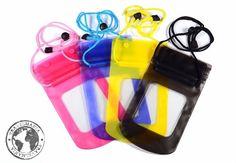Fundas plásticas contra agua para celular.