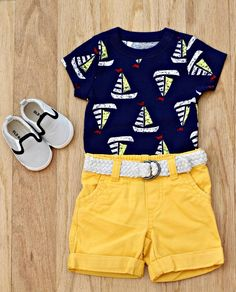 Get your little sailor ready for summer with Nautical looks from Old Navy.    Source: http://gbofashion.com/