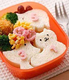 動物たちのサンドイッチ弁当