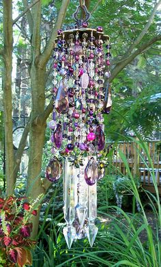 Purple+Dreams+Antique+Crystal+Wind+Chime+by+sheriscrystals+on+Etsy,+$189.95
