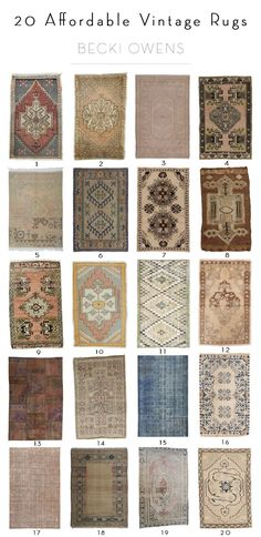 BECKI OWENS--20 Affordable Vintage Rugs